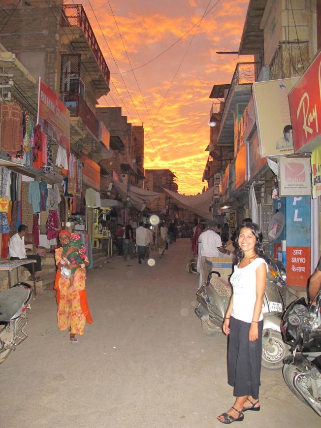 Jaisalmer'de gün batımı