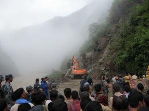 Kathmandu yolları taştan