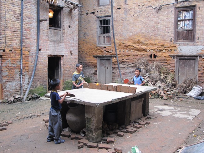 Newari usülü masa tenisi - Bhaktapur