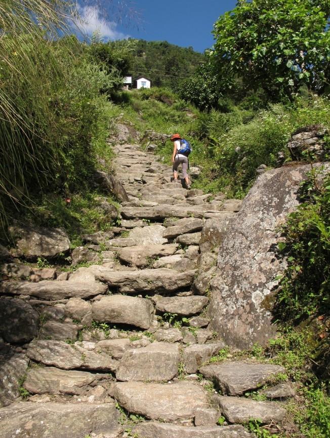 Zorlu tırmanış... Bu şekilde 1300 metre tırmandık.