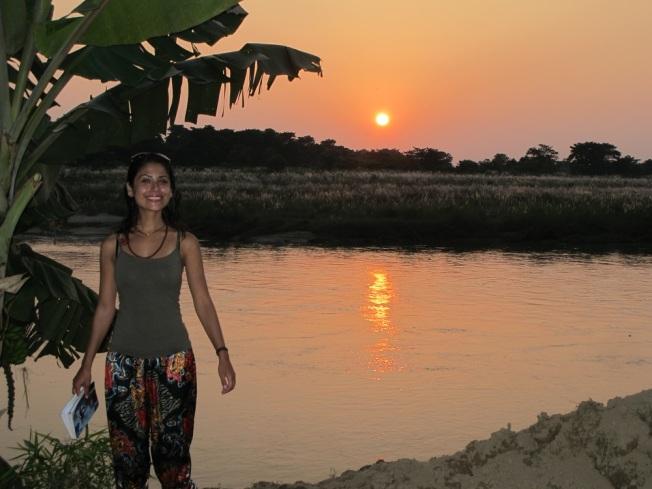 Chitwan'da gün batımı