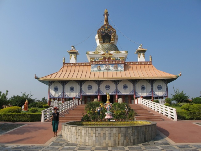 Lumbini'deki Alman budist tapınağı