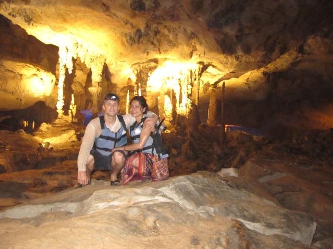 Mağara içinde klasik turist pozu :)