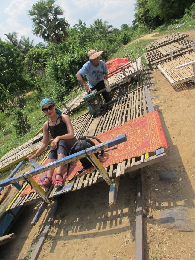 Bambu tren yolculuğuna hazırlık
