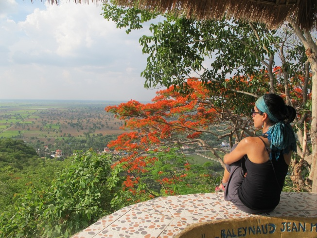Pnom Sampeau tepesinden Battambang manzarası