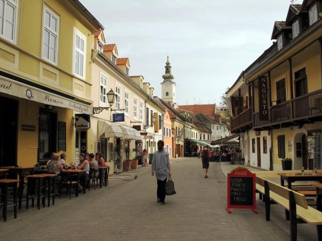 Zagreb eski şehir sokakları