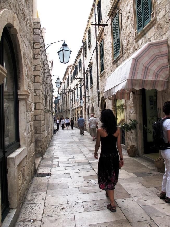 Dubrovnik eski şehir sokakları