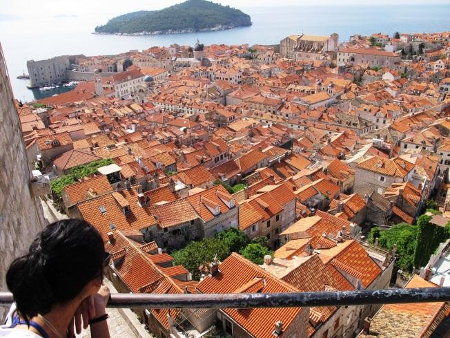 Dubrovnik'in portakal rengi çatıları