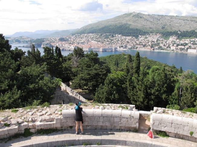 Lokrum Adası tepesinden Dubrovnik manzarası