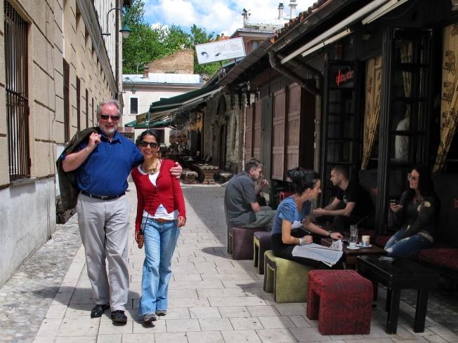 Jose ile eski şehir sokaklarında