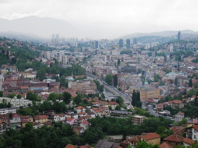 Saraybosna kuşbakışı manzarası