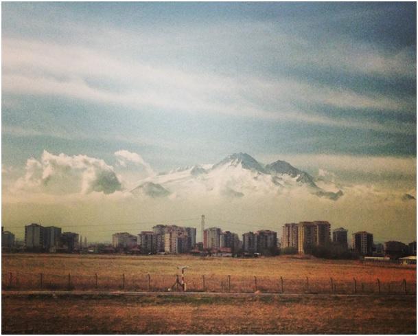 Kayseri'den görünen Erciyes Dağı