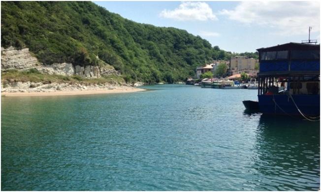 Ağva-Denizin nehirle birleştiği nokta