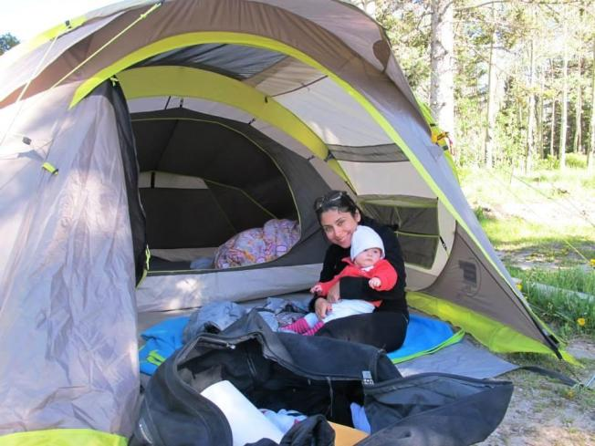 Bebek ve kamp birarada olur mu? Olur :)