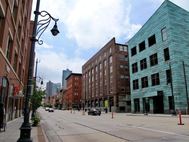 Denver şehir merkezinden bir görüntü