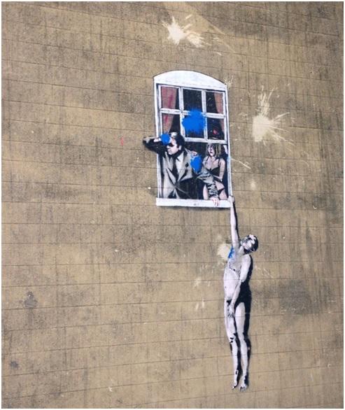 Banksy – Well Hung Lover – Park Street uzerinde