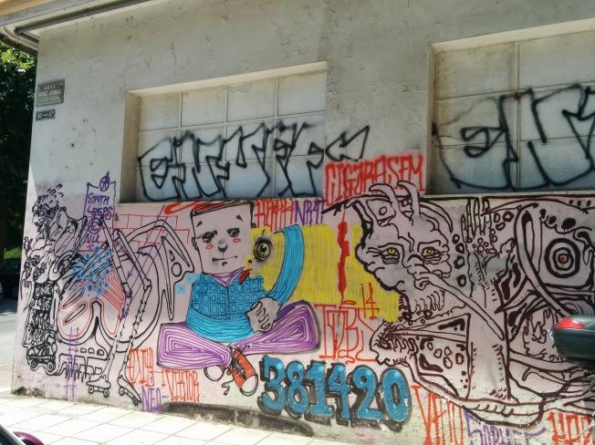 Selanik'te sokak sanatından kesitler