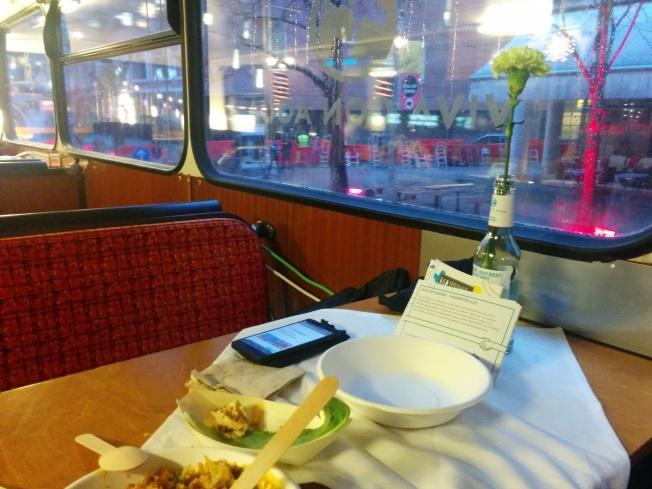 Berlinale programı yapmak için ideal mekanlardan Berlinale Social Bus iç mekanları