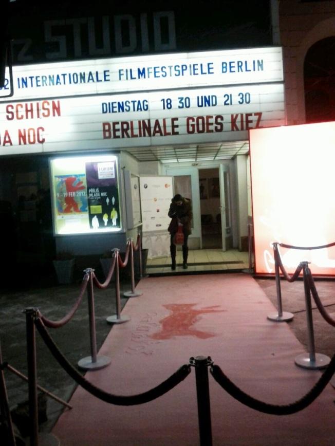Karlı bir Berlinale Goes Kiez akşamı