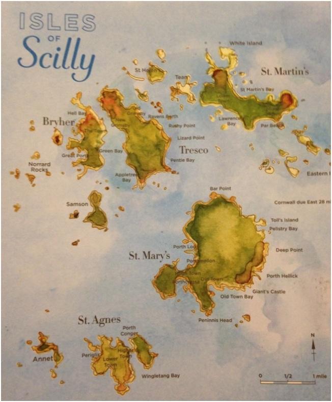 St. Mary 5 tane büyük adadan oluşan Isles of Scilly'nin en büyük adası. Diğer adalar: St. Agnes – Tresco – Bryher ve St Martin's.